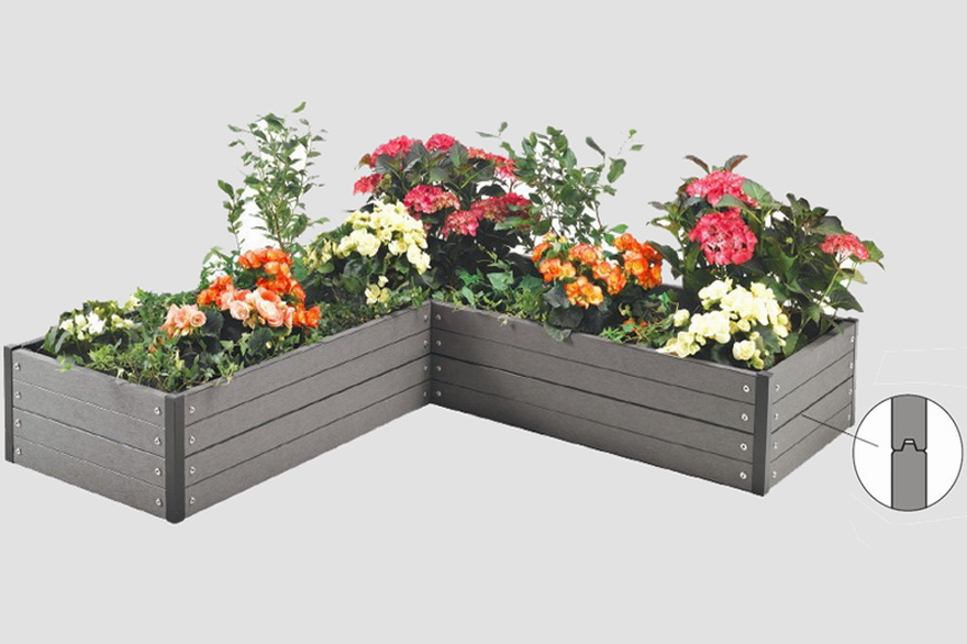 WPC FLOWER BED & QUICK FLOWER BED-wood plastic composite flower bed/box-merit green ... Aboutintivar.Com